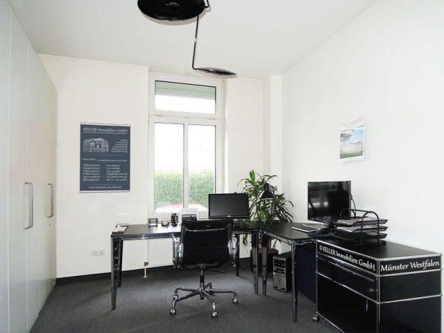 Ein Arbeitsplatz in der Geschäftsstelle an der Hammer Str. 154.